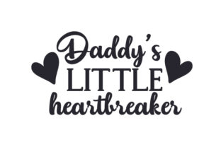 Daddy's Little Heartbreaker Craft Design By Creative Fabrica Crafts