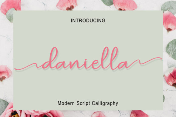 Print on Demand: Daniella Script Script & Handwritten Font By bandithandmade17
