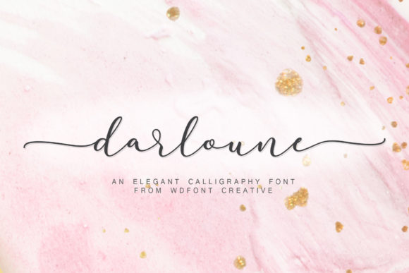 Print on Demand: Darloune Script & Handwritten Font By wdfont.creative
