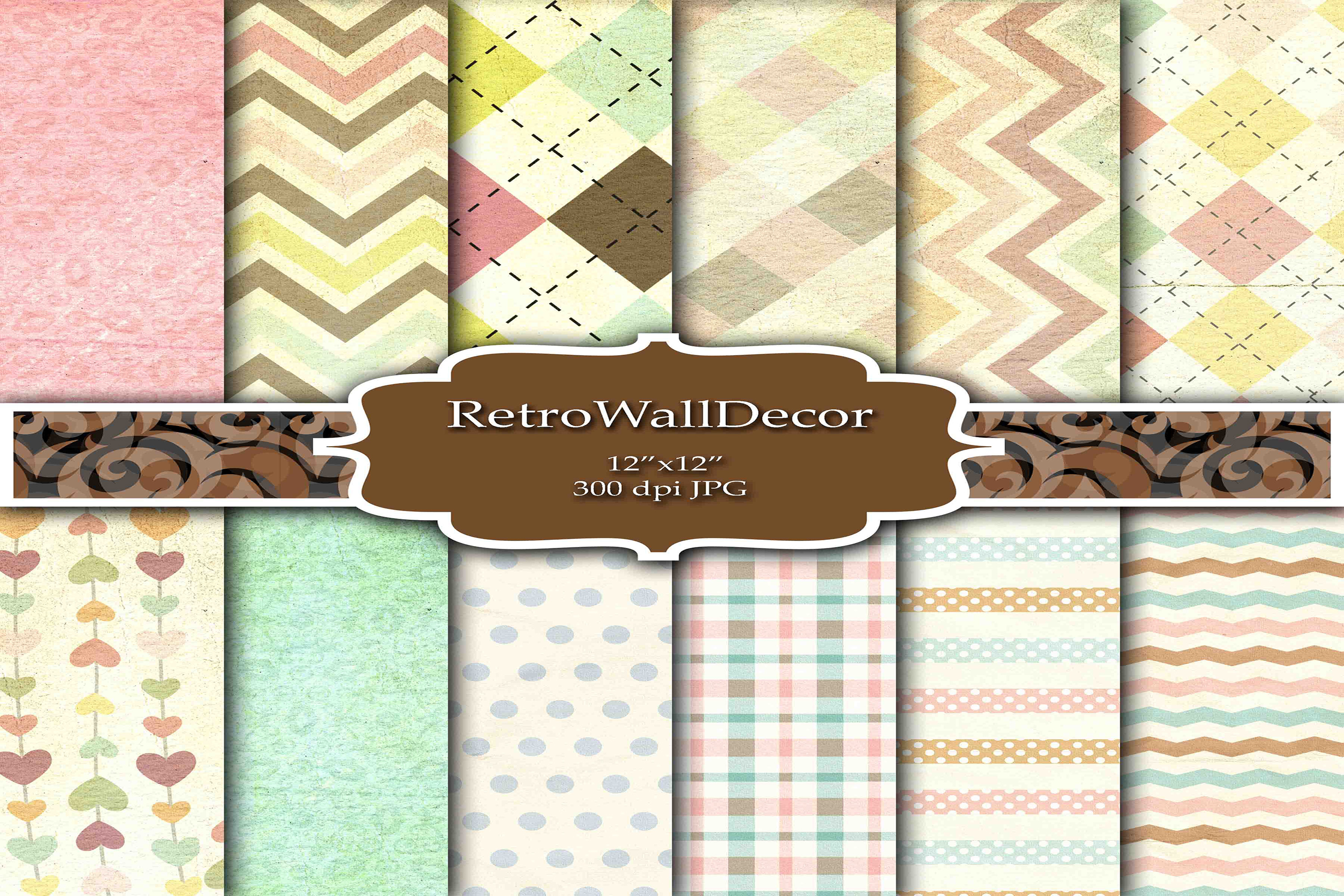 Download Free Decoupage Digital Paper Graphic By Retrowalldecor Creative Fabrica for Cricut Explore, Silhouette and other cutting machines.