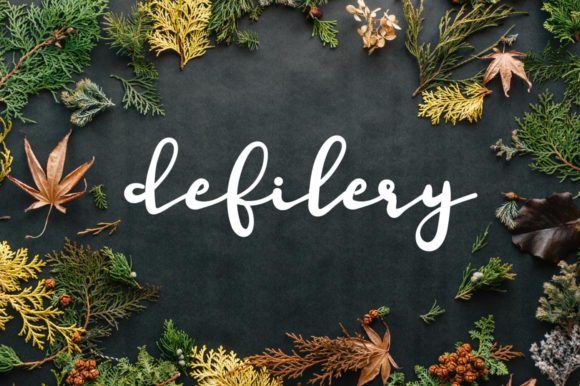 Print on Demand: Defilery Script & Handwritten Font By Autumn Designs