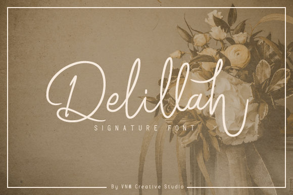 Print on Demand: Delillah Manuscrita Fuente Por VNM Creative Studio