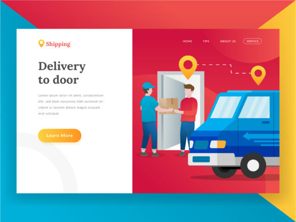 Delivery Package Landing Page Graphic Illustrations By Fand