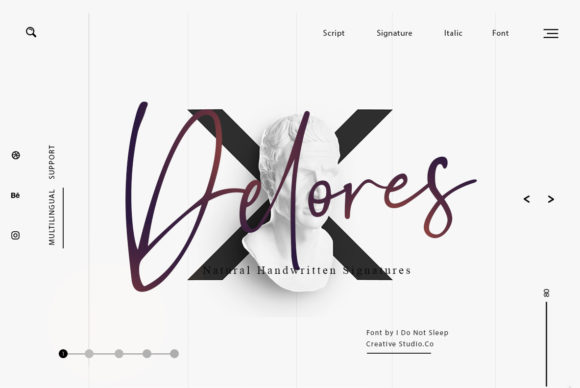 Download Free Delores Font By I Do Not Sleep Creative Fabrica SVG Cut Files