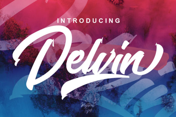 Print on Demand: Delvin Script & Handwritten Font By MysticalType