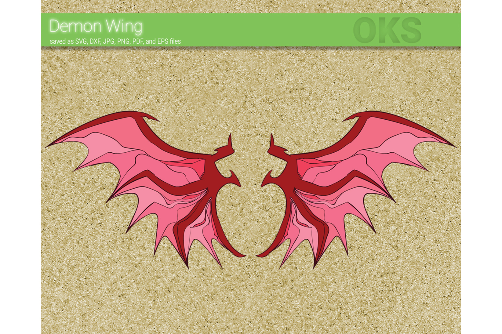Download Free Demon Wing Vector Graphic By Crafteroks Creative Fabrica for Cricut Explore, Silhouette and other cutting machines.