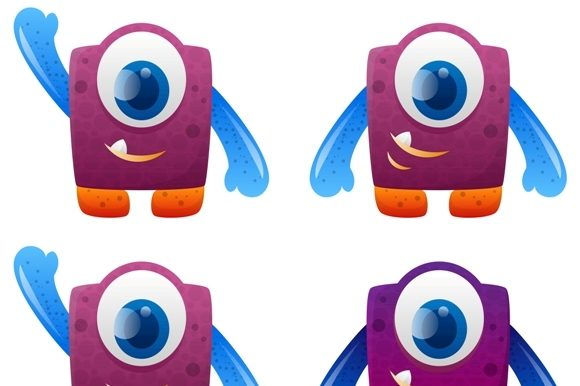 Download Free Design Of Character Monster For Kids Graphic By Mrbrahmana for Cricut Explore, Silhouette and other cutting machines.