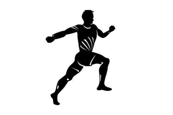 Download Free Detailed Sports Silhouette For Athletics Svg Cut File By for Cricut Explore, Silhouette and other cutting machines.