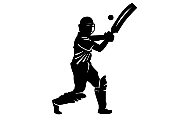 Detailed Sports Silhouette For Cricket Svg Cut File By