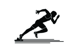 Detailed Sports Silhouettes for Athletics Sports Craft Cut File By Creative Fabrica Crafts