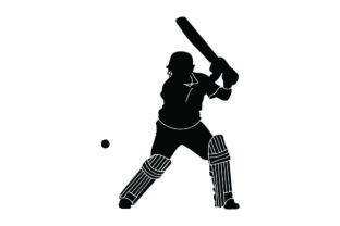 Detailed Sports Silhouettes for Cricket Sports Craft Cut File By Creative Fabrica Crafts