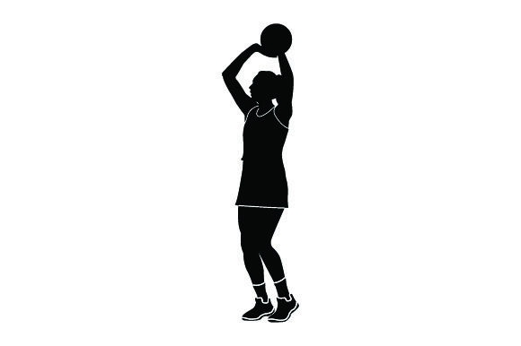 Detailed Sports Silhouettes for Netball Sports Craft Cut File By Creative Fabrica Crafts