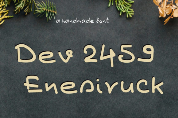Print on Demand: Dev2459 Enesiruck Display Font By Autumn Designs
