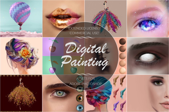 Digital Painting Bundle for Ps Graphic By FaeryDesign Image 1
