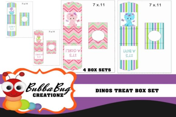 Dinos Treat Boxes Graphic Crafts By BUBBABUG