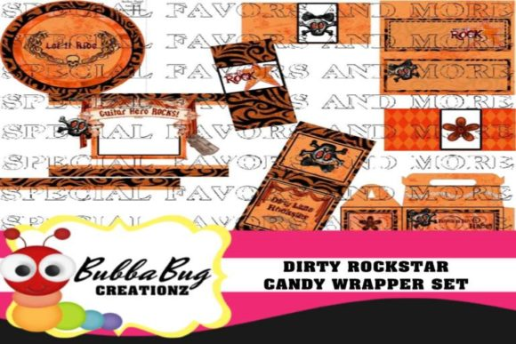 Dirty Rockstar Candy Wrapper Set Graphic Crafts By BUBBABUG