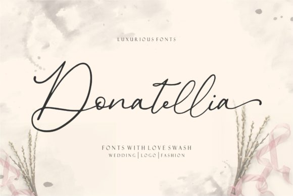 Print on Demand: Donatellia Script & Handwritten Font By Garisman Studio