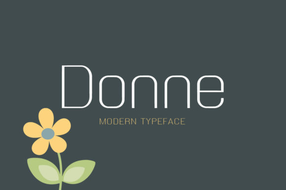 Print on Demand: Donne Display Font By Instagram Fonts