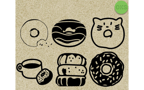 Download Free Donuts Vector Clipart Graphic By Crafteroks Creative Fabrica for Cricut Explore, Silhouette and other cutting machines.