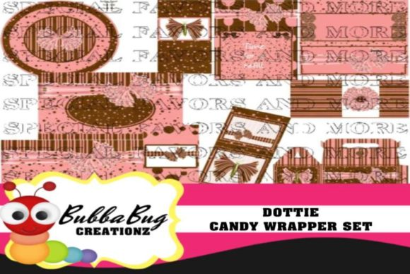 Dottie Candy Candy Wrapper Set Graphic Crafts By BUBBABUG