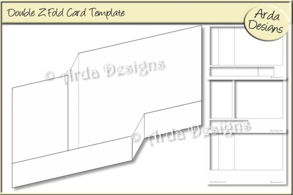 Download Free Double Z Fold Pop Up Box Card Template Graphic By Arda Designs for Cricut Explore, Silhouette and other cutting machines.