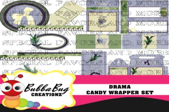 Drama Candy Wrapper Set Graphic Crafts By BUBBABUG