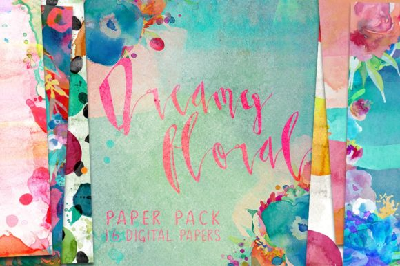 Dreamy Floral Paper Pack Graphic By Creativeqube Design
