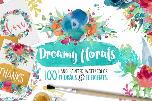 Dreamy Florals Graphic By Creativeqube Design