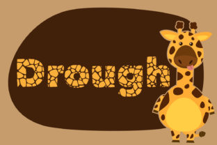 Drought Font By da_only_aan