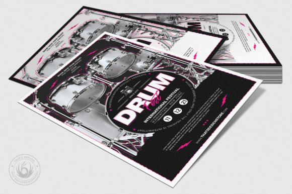 Drum Fest Flyer Template Graphic By ThatsDesignStore Image 4