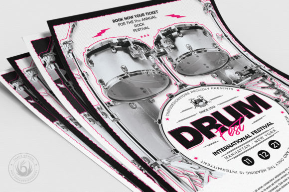 Drum Fest Flyer Template Graphic By ThatsDesignStore Image 5