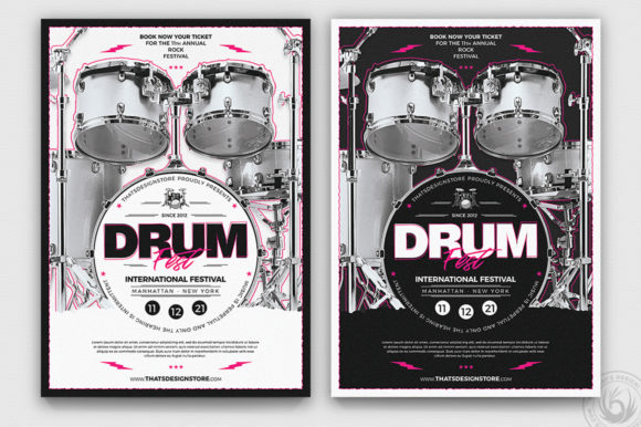 Drum Fest Flyer Template Graphic By ThatsDesignStore