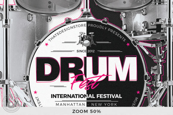 Drum Fest Flyer Template Graphic By ThatsDesignStore Image 7