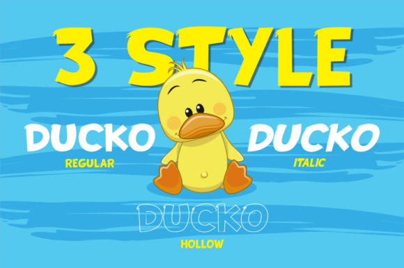 Print on Demand: Ducko Display Font By fachranheit - Image 8