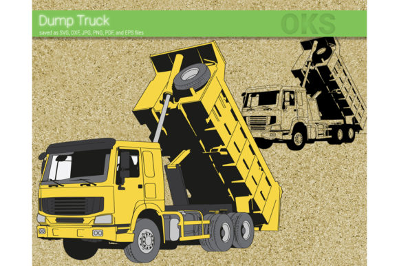 Download Free Dump Truck Svg Vector Graphic By Crafteroks Creative Fabrica for Cricut Explore, Silhouette and other cutting machines.