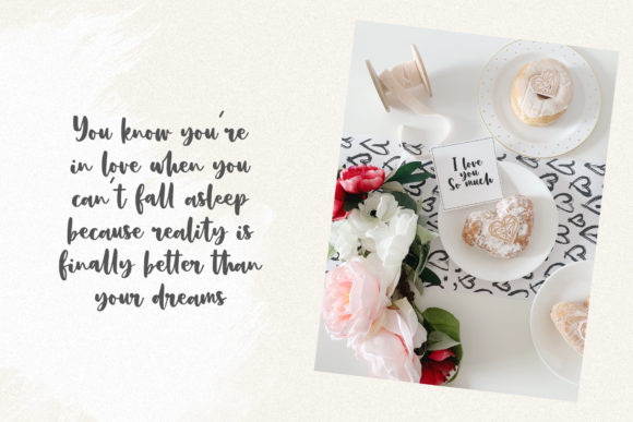 Print on Demand: Dusty Rose Script & Handwritten Font By Dmitrii Chirkov - Image 5
