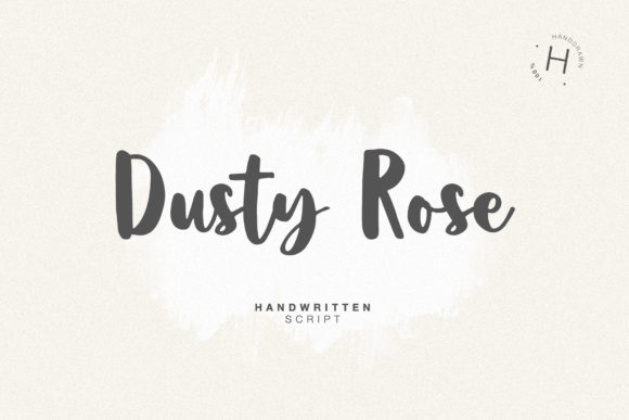 Print on Demand: Dusty Rose Script & Handwritten Font By Dmitrii Chirkov