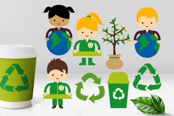 Print on Demand: Earth Day Go Green Graphic Illustrations By Revidevi