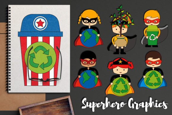 Download Free Earth Day Superhero Graphic By Revidevi Creative Fabrica for Cricut Explore, Silhouette and other cutting machines.