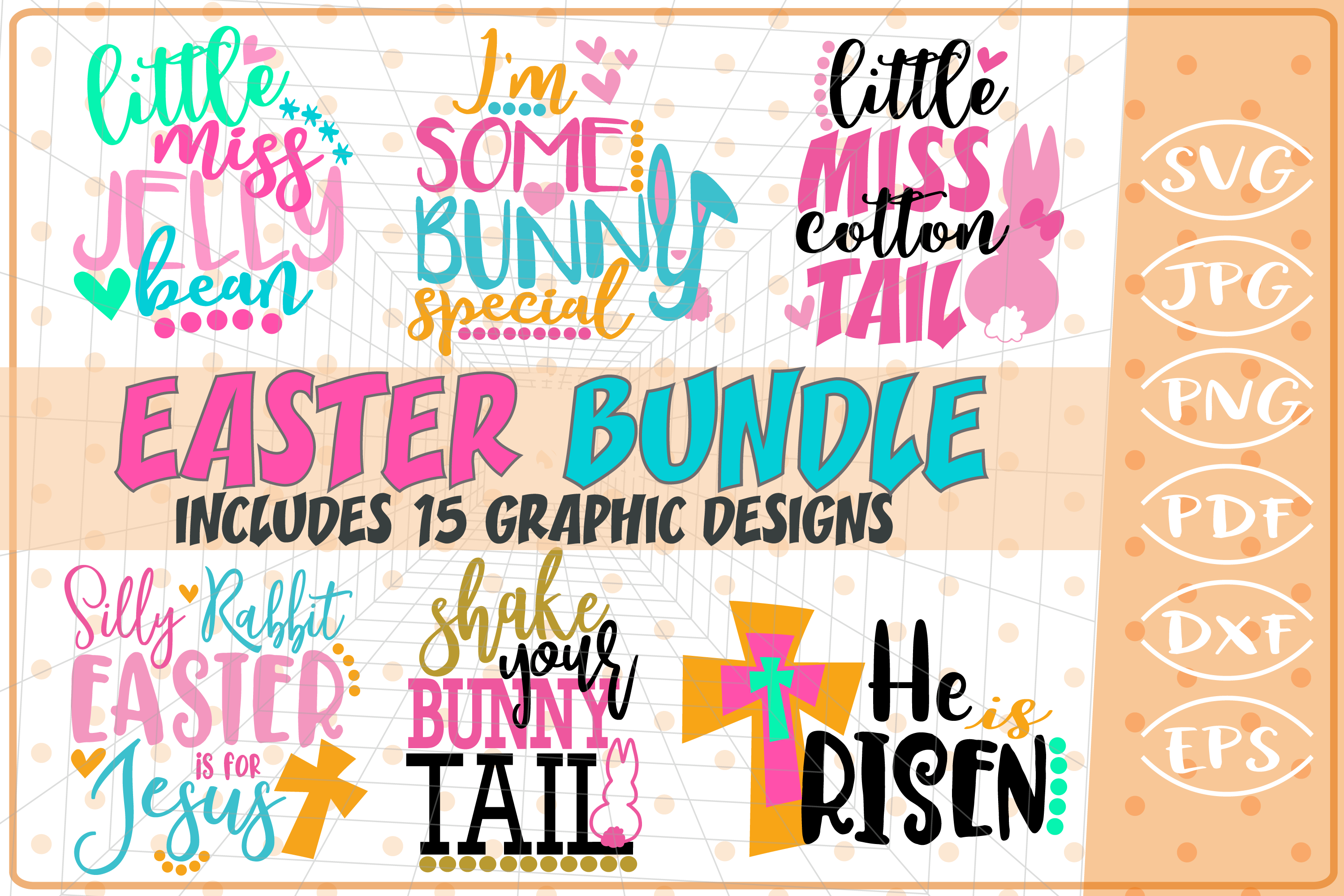 Easter Bundle 15 Graphic By Cute Graphic Creative Fabrica