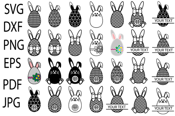 Print on Demand: Easter Bunny Eggs Graphic Crafts By yulnniya