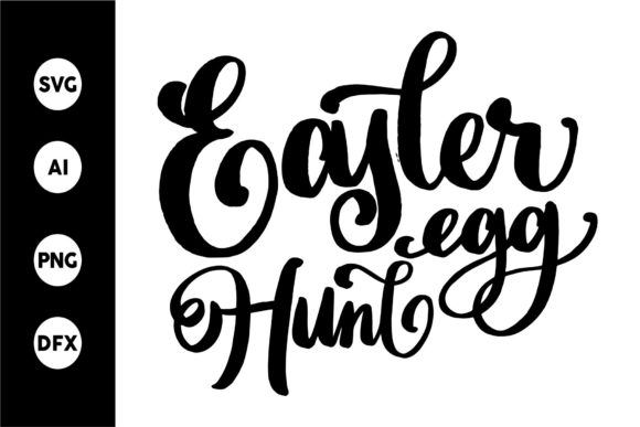 Print on Demand: Easter Egg Hunt SVG Graphic Crafts By goodjavastudio - Image 1