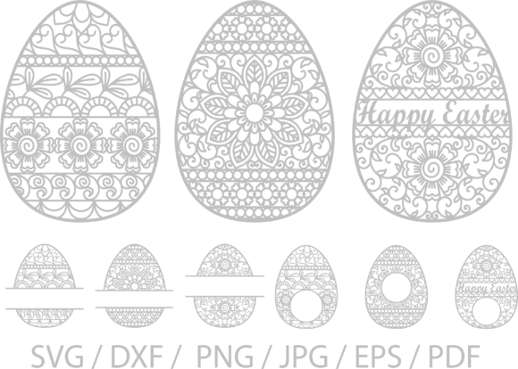 Download Free Easter Egg Svg Ornate Easter Eggs Graphic By Yulnniya for Cricut Explore, Silhouette and other cutting machines.