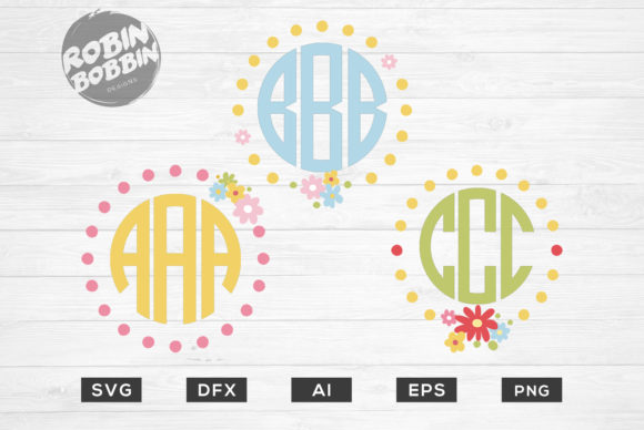 Easter Flower Monogram Framed Graphic By RobinBobbinDesign Image 1