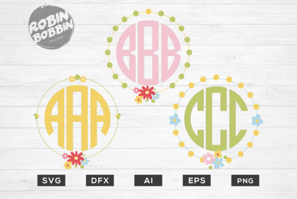 Easter Monogram Frame