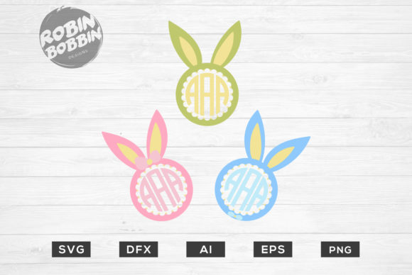 Easter Rabbit Monogram Frame
