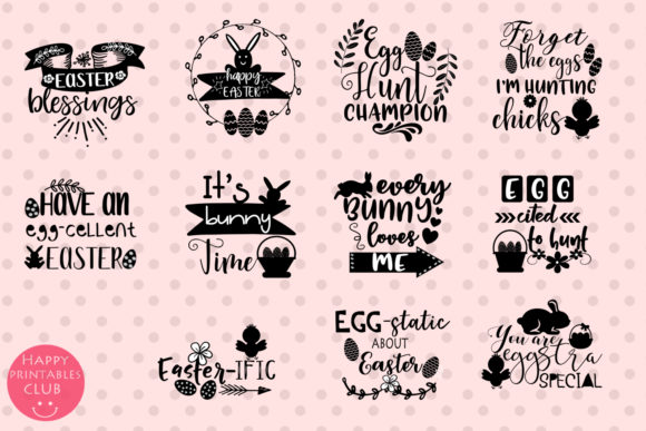 Download Free Easter Word Art Clipart Easter Clipart Grafik Von Happy for Cricut Explore, Silhouette and other cutting machines.