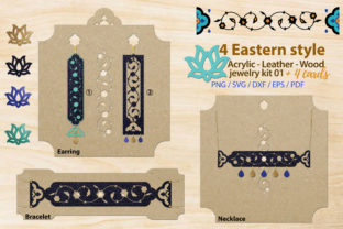 Print on Demand: Eastern Style Acrylic Leather Jewelry 01 Graphic Illustrations By 3Motional