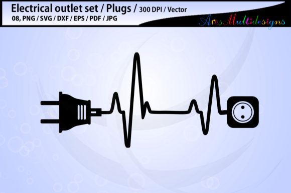 Electric Outlet Plug Electricity SVG Graphic By Arcs Multidesigns Image 2