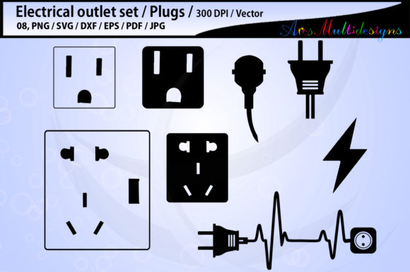Electric Outlet Plug Electricity SVG Graphic By Arcs Multidesigns Image 1